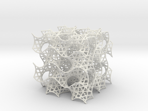 Gyroid Mesh, 8 cell in White Natural Versatile Plastic