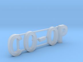 Co-op Building Sign  in Smoothest Fine Detail Plastic