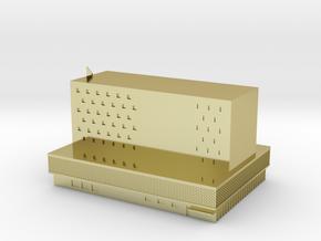 BEZEK BUILDING in 18k Gold Plated Brass