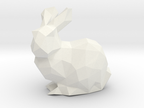 Low Poly Bunny Solid in White Natural Versatile Plastic