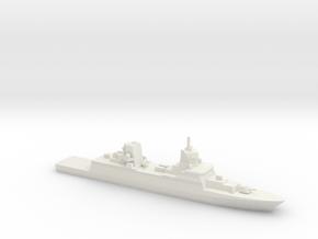 FGS F125 Class Frigate, 1/1250 in White Natural Versatile Plastic
