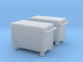1/64th 5' Mechanics tool chest cabinet (2) in Smooth Fine Detail Plastic