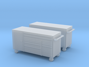 1/64th 7' mechanics tool chest cabinet box (2) in Smooth Fine Detail Plastic