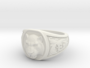 Tiger ring # 3 in White Natural Versatile Plastic