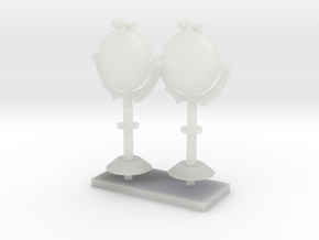 1:96 LRAD (Long Range Acoustic Device) in set of 2 in Frosted Ultra Detail