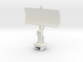 USS Flagg  Mast Array - Surface Radar Dish in White Natural Versatile Plastic