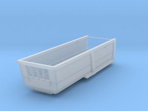 1/87 HO Kippmulde 23m³, 7,0m Länge, 1,5m Bordwand in Smooth Fine Detail Plastic