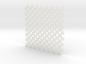 Fabric Sample Base Pattern in White Processed Versatile Plastic