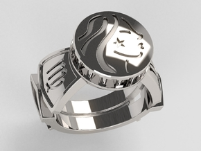 Virgo Ring in Polished Silver: 10 / 61.5
