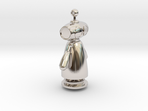 Robot-Type-3 v16 - With secret compartment in Rhodium Plated Brass