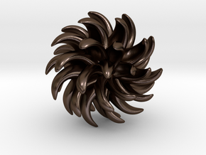 Little Chrysanthemum in Polished Bronze Steel