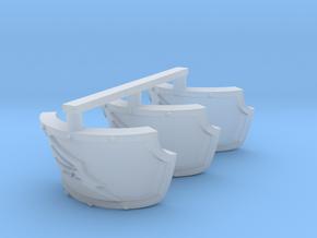 Wing Centaur shoulder pads x3 R in Smooth Fine Detail Plastic