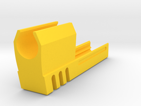 Match Weight Tomb Raider Compensator for 1911 in Yellow Processed Versatile Plastic