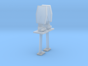 1/96 scale Side Communication Tower in Smooth Fine Detail Plastic