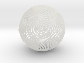 Spiraling Icosahedron | 4mm in Smooth Fine Detail Plastic