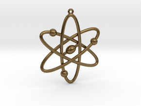 Atom Keychain or Pendant in Natural Bronze