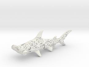 Maori Shark in White Natural Versatile Plastic