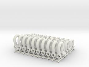 Bolt shackles - 1:25 - 30X in White Natural Versatile Plastic