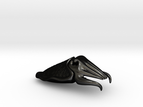 Cuttlefish Bottle Opener in Matte Black Steel
