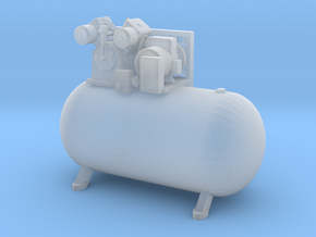 1/64th Large Horizontal Shop type Air Compressor in Smooth Fine Detail Plastic