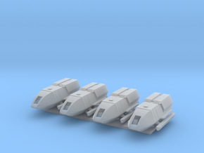 1/350 TFF Galileo 5 Shuttlecraft 4-Pack in Smooth Fine Detail Plastic