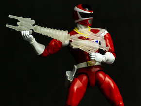 Space Red Accessory - Spiral Saber Booster Mode in Smooth Fine Detail Plastic