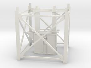 "1/64th ""S"" Scale Grain Leg/Tower 10ft Bottom Sect in White Natural Versatile Plastic"