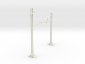 CATENARY PRR 2 TRACK N SCALE  in White Natural Versatile Plastic