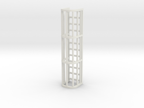 Ladder Cage 3-Section in White Natural Versatile Plastic