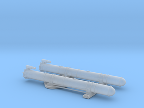 1/96 Scale Mk 18 PT Boat Torpedo Tubes Loaded in Smooth Fine Detail Plastic