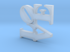 Love Sculpture Pendant  in Smooth Fine Detail Plastic
