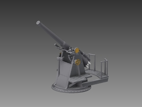 4 inch QF MKV 1917 1/72 in Smooth Fine Detail Plastic