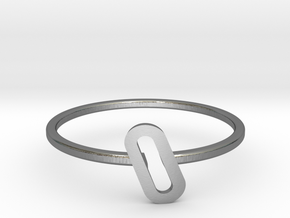 Letter O Ring in Polished Silver: 7 / 54