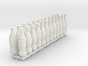 Soda bottles 01. 1:12 Scale  in White Natural Versatile Plastic