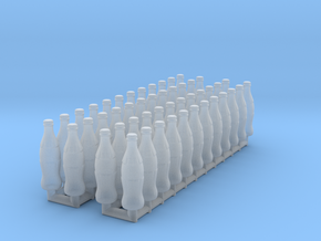 Soda bottles 01. 1:24 Scale  in Smooth Fine Detail Plastic