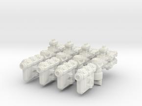 XM103 Lillours-OX Class Escort Frigate (4) in White Natural Versatile Plastic
