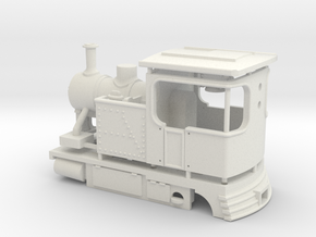 009 Fowler style Tram Engine in White Natural Versatile Plastic