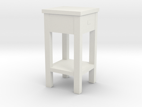 1/12 Scale Western Nightstand in White Natural Versatile Plastic