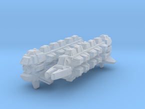 Cardassian Military Freighter 1/7000 x2 in Smooth Fine Detail Plastic