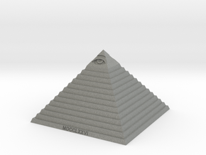 Pyramid of Illuminati in Gray PA12