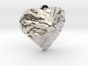 Rainier Heart in Rhodium Plated Brass