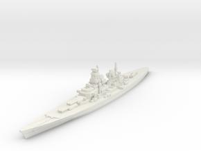 H-39 Battleship 1/1800 in White Natural Versatile Plastic