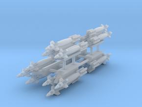 GBU-12 Paveway II 3-Rack in Smooth Fine Detail Plastic: 1:144