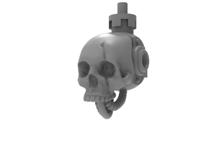 Mini Knight - Skull Head in Smoothest Fine Detail Plastic