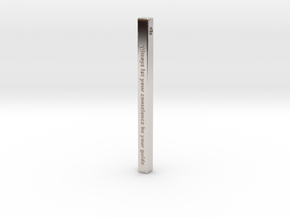 "Vertical Bar Customized Pendant ""Always Let Your"" in Rhodium Plated Brass"