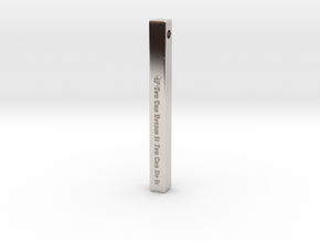 "Vertical Bar Pendant ""IF You Can Dream"" in Platinum"