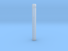 "Vertical Bar Pendant ""She believed she could so sh in Smooth Fine Detail Plastic"