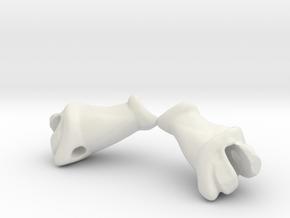 Drakkon Forearm Gauntlets - Lightning in White Natural Versatile Plastic