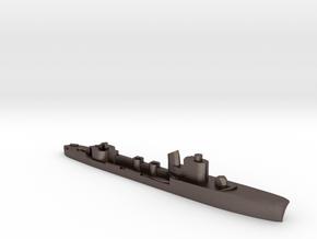 Italian Partenope torpedo boat 1:1800 WW2 in Polished Bronzed-Silver Steel