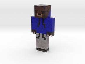BlueHoodieSmokie | Minecraft toy in Natural Full Color Sandstone